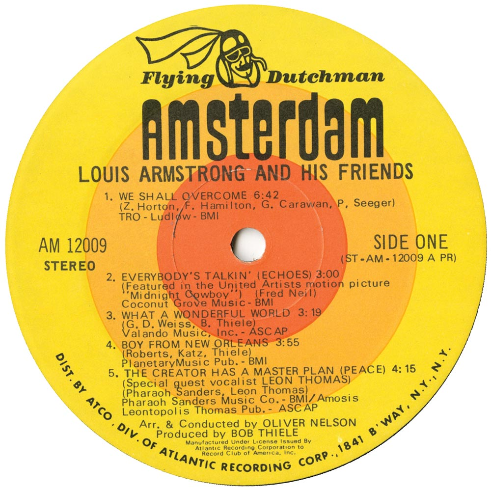 Louis Armstrong And His Orchestra - (What Did I Do To Be So) Black And Blue / Blue Again