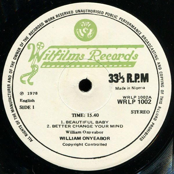 William Onyeabor Crashes In Love